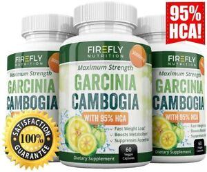 3 x FireFly GARCINIA CAMBOGIA 180 Capsules 95% HCA 3000mg Weight Loss Fat Burner