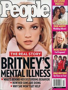 Details about PEOPLE MAGAZINE January 21 2008 Britney Spears Jonas Brother  ~ E-4-1 ~ BRAND NEW