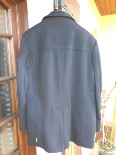 Coat Wool Jean's Size caban Near Marine 54 State blue New Armani tBEwqgw