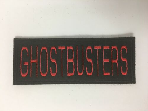 PERSONALISED CUSTOM GHOSTBUSTERS STYLE NAME FELT PATCH FANCY DRESS COSTUME
