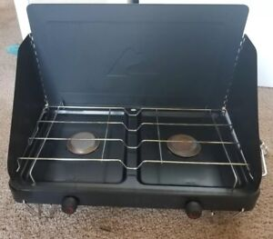 Ozark-Trail-2-Burner-Camp-Stove-Camping-Propane-Gas-Portable-Outdoor-Cooktop