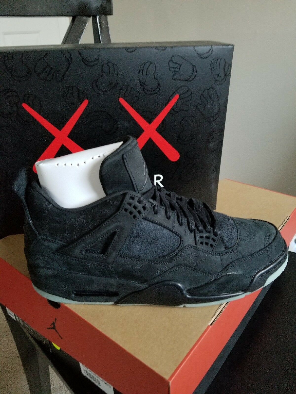 KAWS x Air Jordan 4 (Black) 100% Authentic DeadStock Size 10.5