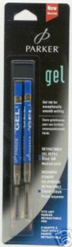 Pack Of 2 Parker Blue Medium Pt Gel Refills New In Pack