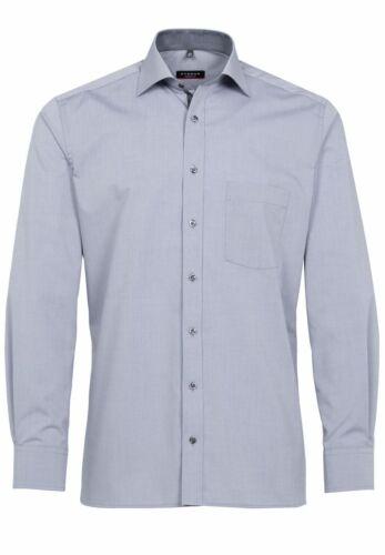 8500 x157 Chambray Eterna-modern fit-bügellfreies Uomo camicia manica lunga