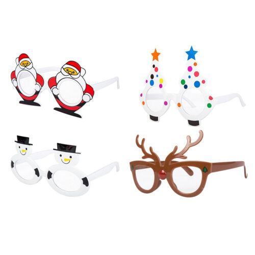Pack of 4 Kids Children/'s Assorted Novelty Christmas Fancy Dress Glasses