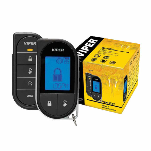 Viper Responder LC3 4706V 2 way LCD Vehicle Car Remote Start System 4706VB