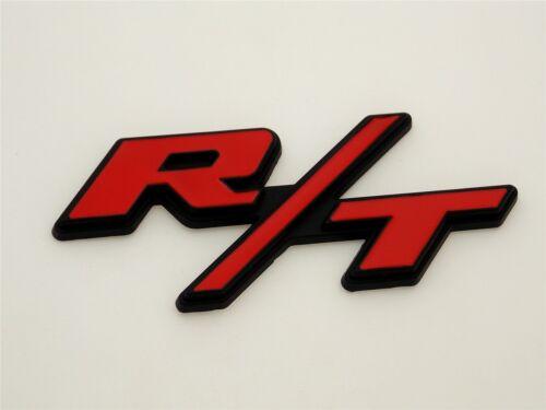 R//T RT Car Body Trunk Sticker Fender Emblem Decal Diy Red//Black