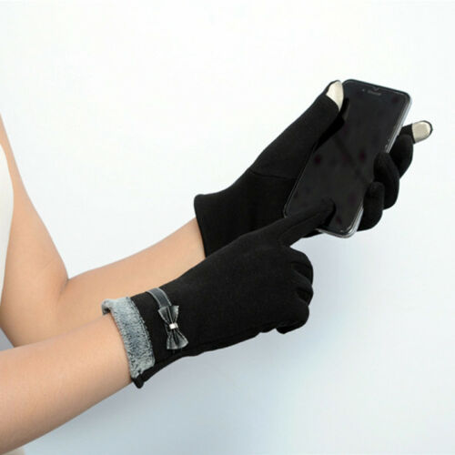 Hot Elegant Ladies Womens Touch Screen Warm Weaved Knit Wrist-Gloves Mittens