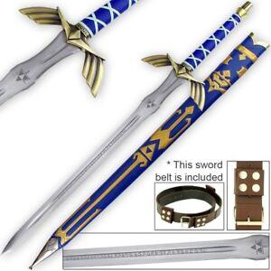 Sharp-Full-Tang-Legend-of-Zelda-Link-Master-Sword-belt-functional-cosplay-set