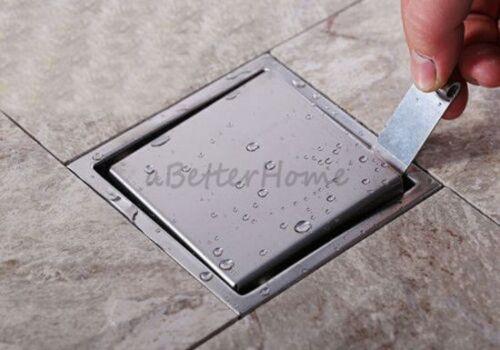 Stainless Steel Bathroom Invisible Shower Floor Drain Waste Grate Shower Drainer