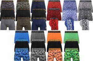 Mens 3 Pack Crosshatch Boxer Shorts Underwear Trunks Size, S To XXL Gift Set