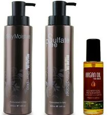 Argan Oil From Morocco Shampoo, Conditioner & Oil Hair Care Set Total Value $110