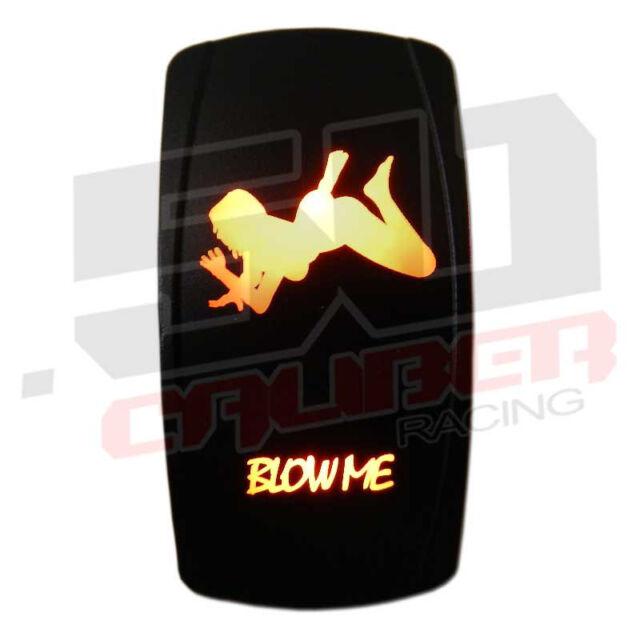 Orange Blow Me Backlit Led Rocker Switch Waterproof Marine 12v 24v 20a 3 pin