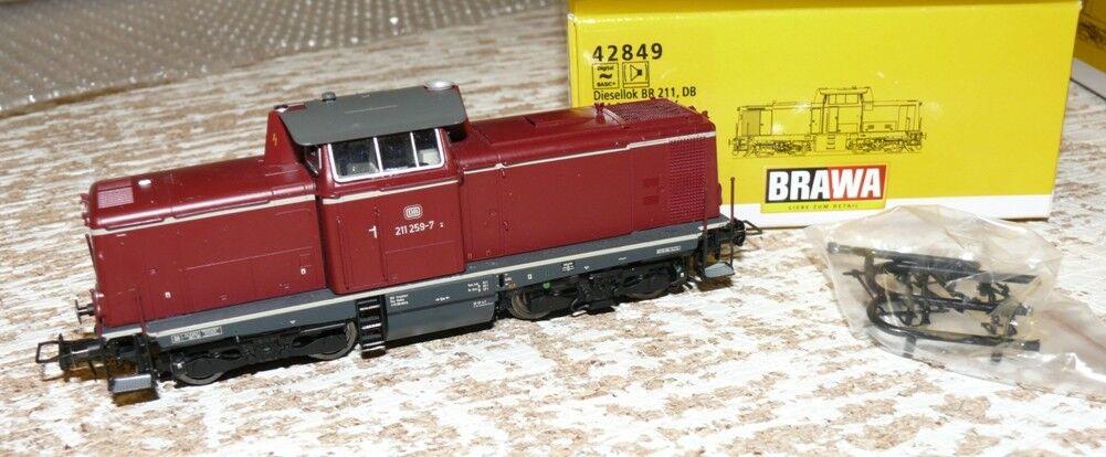 S58 Brawa 42849 Diesellok Baureihe 211 259 -7 der DB A  c Wechselstrom digital