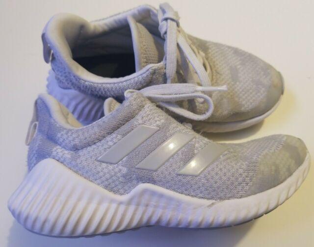 adidas Fortarun Athletic Running Shoe Boys Size 1 D98177 White Gray