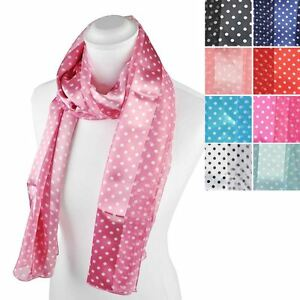 cfbe5374cf1d Image is loading Classic-Polka-Dot-Scarf-Satin-Stripe-Gift-for-