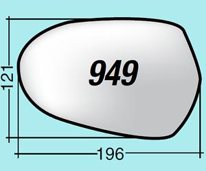 Vetro-specchietto-Audi-A6-sinistro-asf-term-cromato-curvo-piatt-ASF949SPR