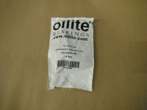 OILITE BRONZE BUSHING P//N AA628-06B 1//2X5//8X3//4 Qty 10