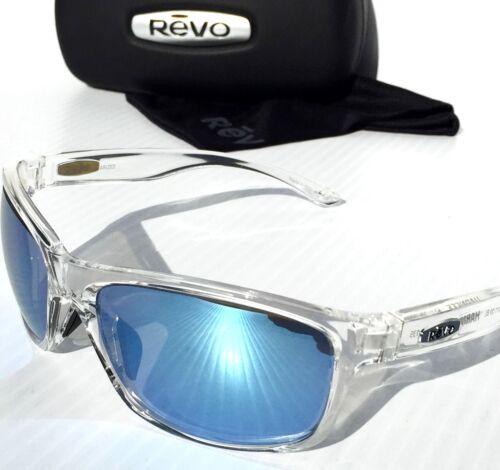 NEW* REVO HARNESS CLEAR w POLARIZED BLUE WATER Lens Sunglass RE 4071 09 BL