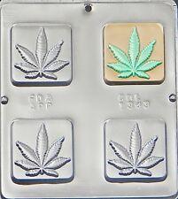 Marijuana Leaf Pot Leaf Square Bar Chocolate Candy Mold 1343 NEW