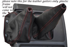 RED STITCHING FITS NISSAN PATROL Y60 LEATHER GEAR GAITER SHIFT BOOT ONLY