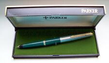 "PARKER "" 45 "" STANDARD DE LUXE ; in GREEN/STEEL/GOLD 14Kt NIB ! MADE IN U.S.A. !"