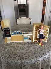 Marx Toys Sindy Kitchen Scene  Refrigerator, Wall Oven, Range And Kitchen Sink