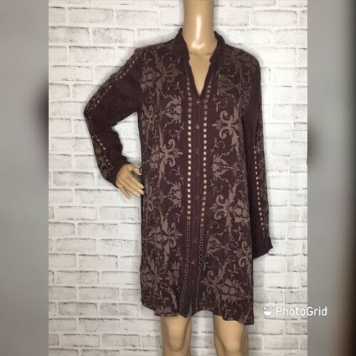 Johnny Was embroidered tunic top M medium