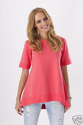 Trendy Women's Mini Dress Crew Neck Tunic Style Short Sleeve Size 8-16 FA226