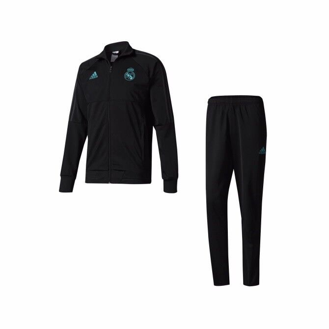 DER ADIDAS REAL MADRID POLYESTER TRAININGSANZUG FÜR KINDER ; NEU  | Attraktive Mode