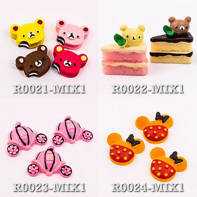 Rilakkuma Cookie Pumpkin Cart Sandwich Mickey Minnie Resin Flat Back Craft Cute
