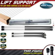 2Qty Rear Window Glass Lift Support Strut Rod For Jeep Grand Cherokee 1994-1998
