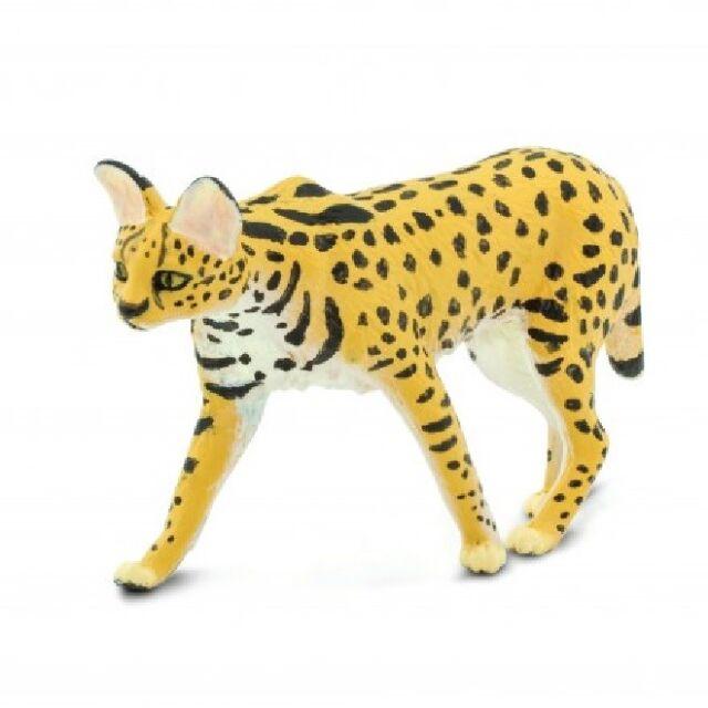 Safari Ltd 100237 SERVAL 9 cm Série Animaux Sauvages Nouveauté 2019