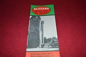 Blizzard Ensilage Cutter /& Hay Chopper Dealer/'s Brochure MISC3