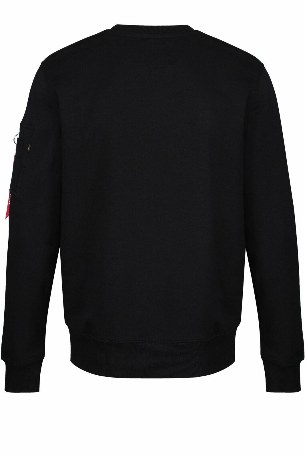 ALPHA INDUSTRIES NASA Reflective Logo Sweat Shirt | Black