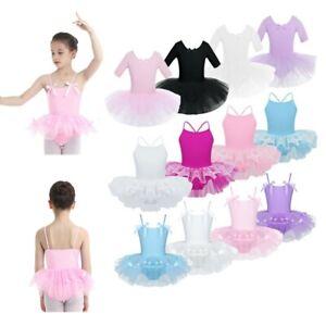 Girls-Toddler-Ballerina-Costume-Skirt-Ballet-Dance-Wear-Leotard-Gym-Tutu-Dress
