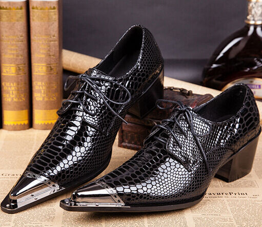 tempo libero Mens Mens Mens Wedding Formal Pumps Lace Up Pointy Toe Metal Mid Heel Chunky Punk scarpe e1  il miglior servizio post-vendita