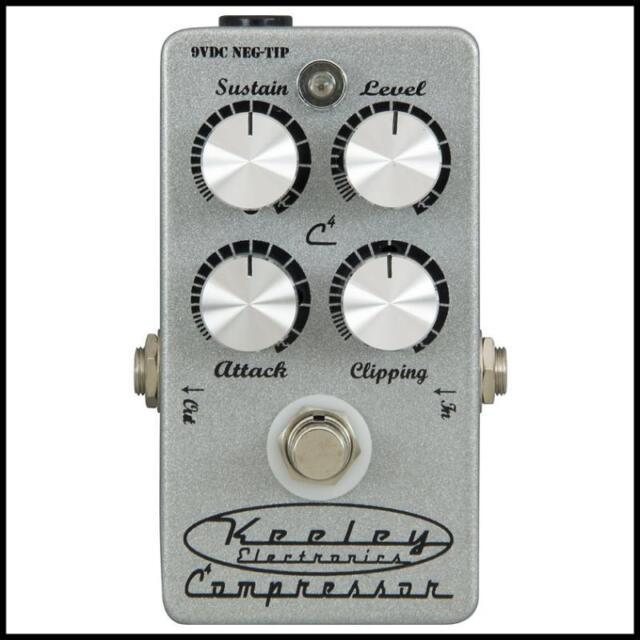 keeley electronics c4 4 knob compressor guitar effects pedal for sale online ebay. Black Bedroom Furniture Sets. Home Design Ideas