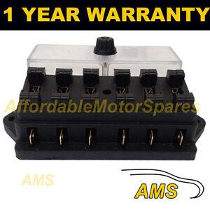 new 6 way universal standard 12v 12 volt atc blade fuse box image is loading new 6 way universal standard 12v 12 volt