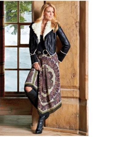 Gorgeous  120 Boston Proper Grecian Paisley Skirt, S 6-8, NEW