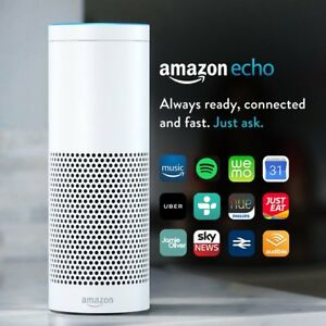 Details about Amazon Echo Smart Speaker with Alexa Voice Recogn  & Control  (UK stock) White !!