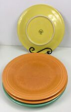 Fiestaware mixed colors Dinner Plate Lot of 4 Fiesta 10.5 inch plates