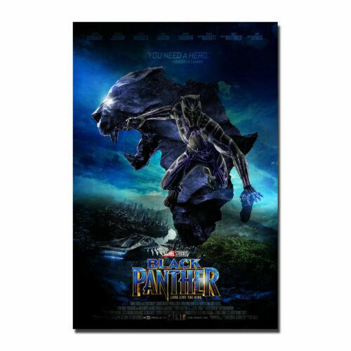 2C227 Black Panther 2018 Movie 2 Deco Print Art Silk Poster