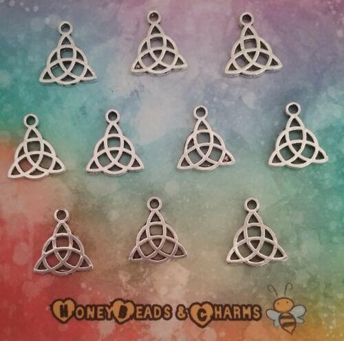 ❤ ❤ Encantos de Plata Antiguo Nudo Celta Pack de 10 ❤ ❤ de manualidades//fabricación de joyas