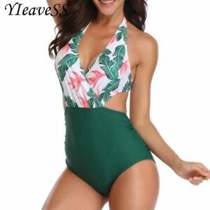 comprare popolare fee76 668a1 Dettagli su Intero Taglie Forti Costume da Bagno Vita Alta Bikini Costume  Donna Bikini Hig