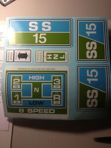 Sears-Suburban-decal-set-SS15-15-hp-in-Green-amp-Blue-60-039-s-and-70-039-s-blue-white