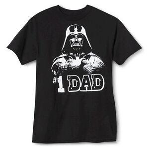633f8b86f STAR WARS Darth Vader FATHERS DAY TEE Number One Dad T-SHIRT Dark ...