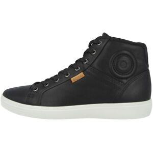 430024 Haut Baskets Noir Soft Hommes 01001 Cuir En Hommes 7 Ecco Mid Chaussures xOBzwqBPX