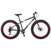Mongoose Men's Dolomite Fat Boys Tire Cruiser Bike Blue 26 Inch