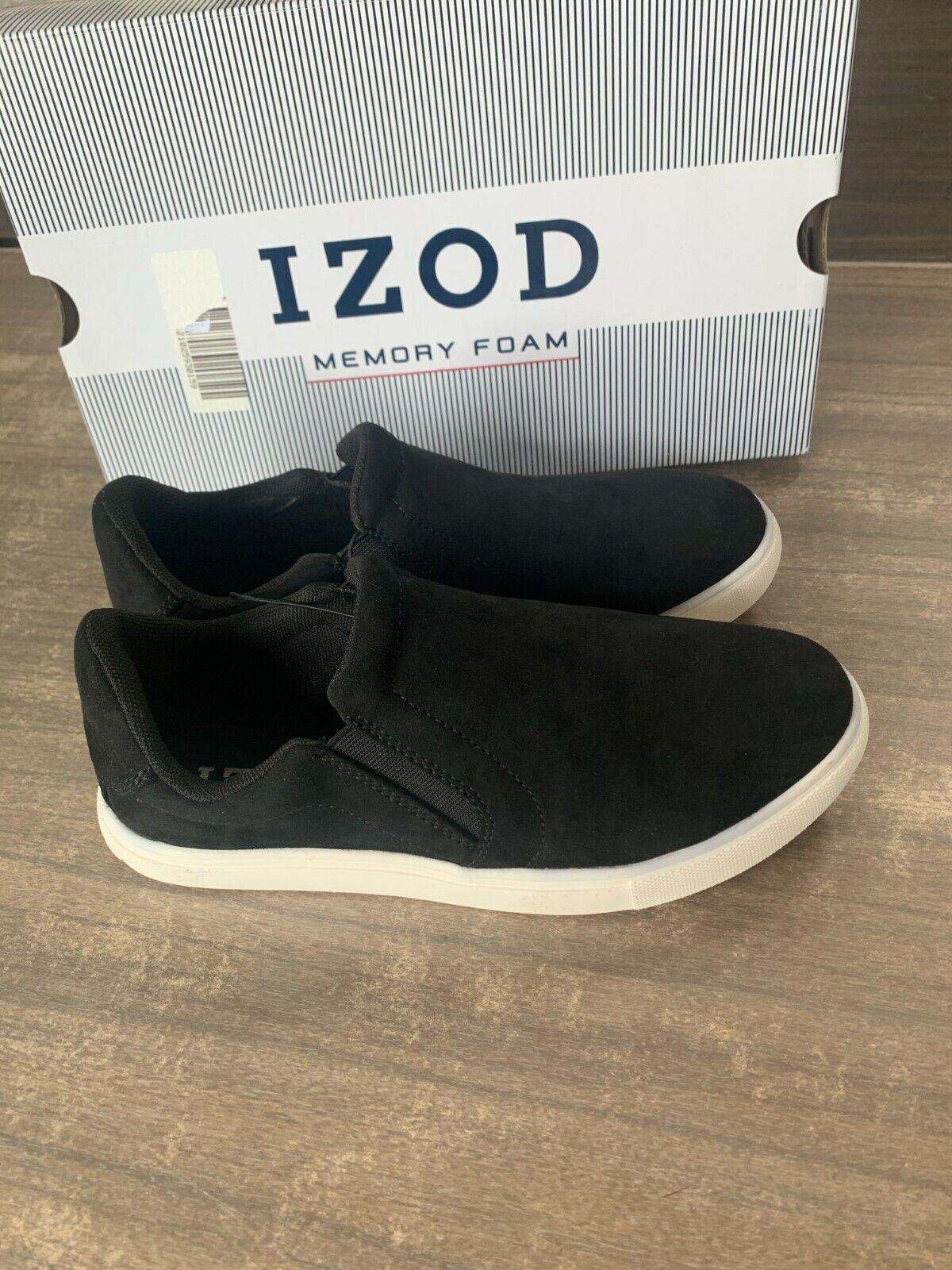 NEW Women's IZOD Julie Slip On Casual Suede Memory Foam Shoe Black Pick Size